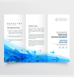 Awesome arrow style business brochure trifold vector