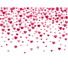 Confetti hearts background vector