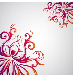 Abstract floral background with oriental flowers vector