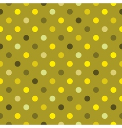 Tile green polka dots wallpaper background vector