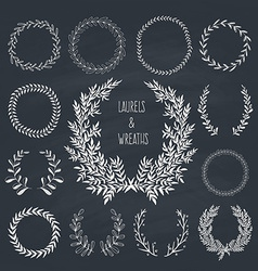 Laurels and wreaths collection vector
