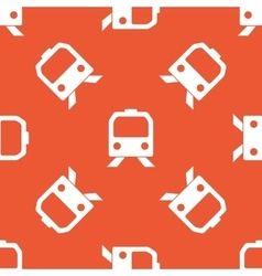 Orange train pattern vector