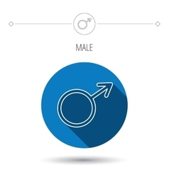 Male icon gentlemen sexuality sign vector