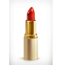 Red lipstick icon vector