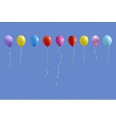 Set of colourful birthday or party balloons vector