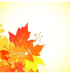 Watercolor foliage vector