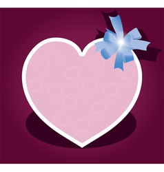 Greeting card with bow for valentine day vector