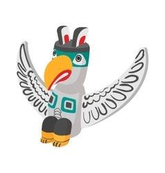 A colorful totem pole icon cartoon style vector