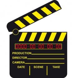 digital movie clapboard vector image