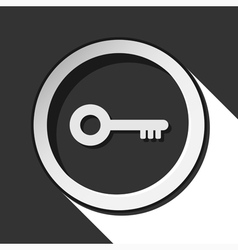 Icon - key with shadow vector