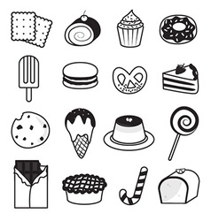 Desserts and sweets collection vector