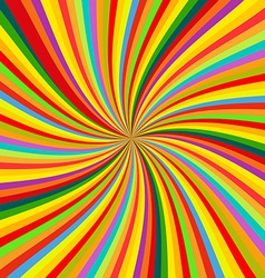 Abstract Colorful retro rotation Background vector image