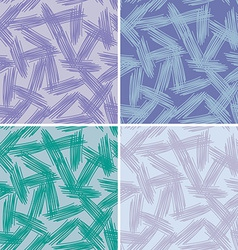 Abstract grunge painted texture set seamless vector image