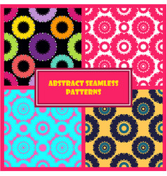 Abstract round shape patterns set vector