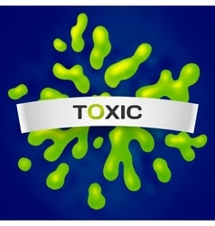 Abstract toxic color splash background vector image vector image