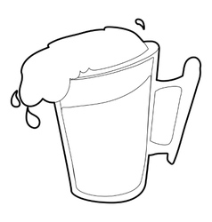 Beer icon outline style vector