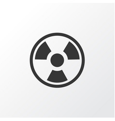 Bio hazard icon symbol premium quality isolated vector