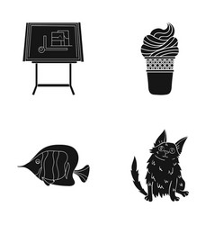 care rest cafe and other web icon in black style vector image