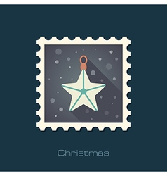 Christmas Star flat stamp vector image