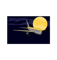 commercial jet plane airliner vector image vector image