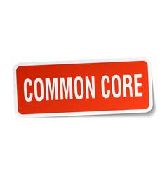 Common core square sticker on white vector