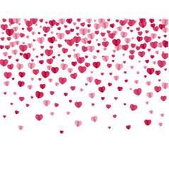 confetti hearts background vector image vector image