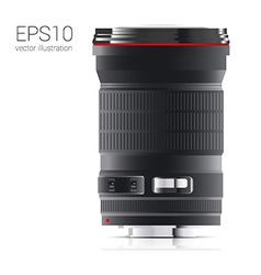 drawn from the camera lens side view vector image vector image