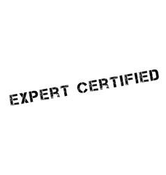 Expert certified rubber stamp vector