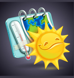 funny weather icon vector image vector image