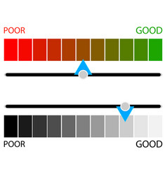 indicator credit rating horizontal colored and vector image