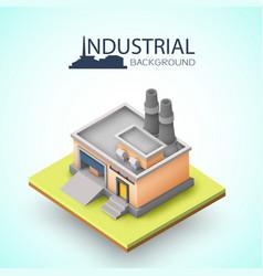industrial building background vector image vector image