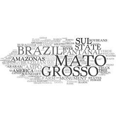Mato word cloud concept vector