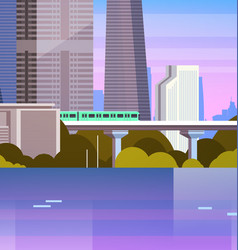 modern urban panorama city with skyscrapers and vector image vector image