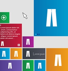 Pants icon sign buttons modern interface website vector