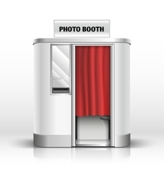 Photo quick service vending machine booth vector