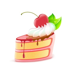 piece of cake vector image vector image