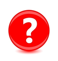 Question icon on red background vector image vector image