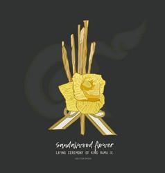 Sandalwood flower for king sketch vector