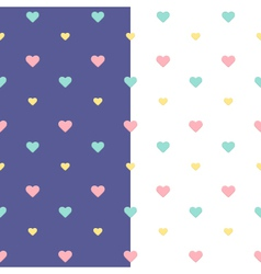Seamless heart pattern purple and white vector image vector image