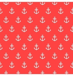 Seamless pattern with nautical anchors vector