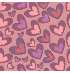 Seamless Valentines Day pattern with hearts vector image vector image