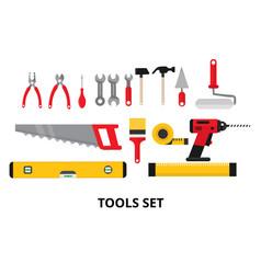 Set building tools repair vector
