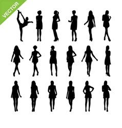 Sexy women silhouettes set 17 vector