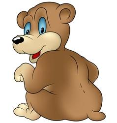 sitting bear vector image vector image