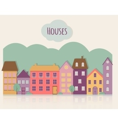 Street with houses vector