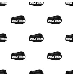 world cinema sign icon in black style isolated on vector image