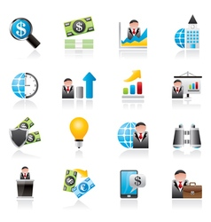 Business and finance strategies icons vector