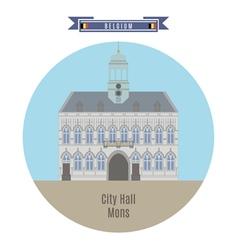 City hall mons vector