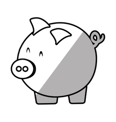 Piggy save money bank shadow vector