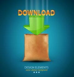 Icon download vector